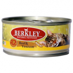 Консервы для кошек Berkley #12 Beef & Venison Adult говядина с олениной 0,1 кг