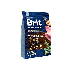 Сухой корм для собак склонных к полноте Brit Premium by Nature Light Turkey & Oats